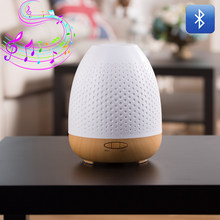 380ML Bluetooth Speaker Colorful LED Lights Aroma mini Humidifier Aromatherapy Essential Oil Mist Diffuser Wireless MP3 Atomize(China)