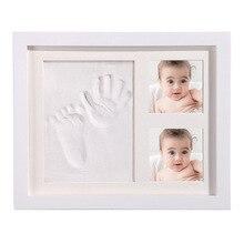 Baby Handprint Footprint Photo Picture Frame Kit  Newborns Kids DIY Gift Souvenir Baby Clay Molds