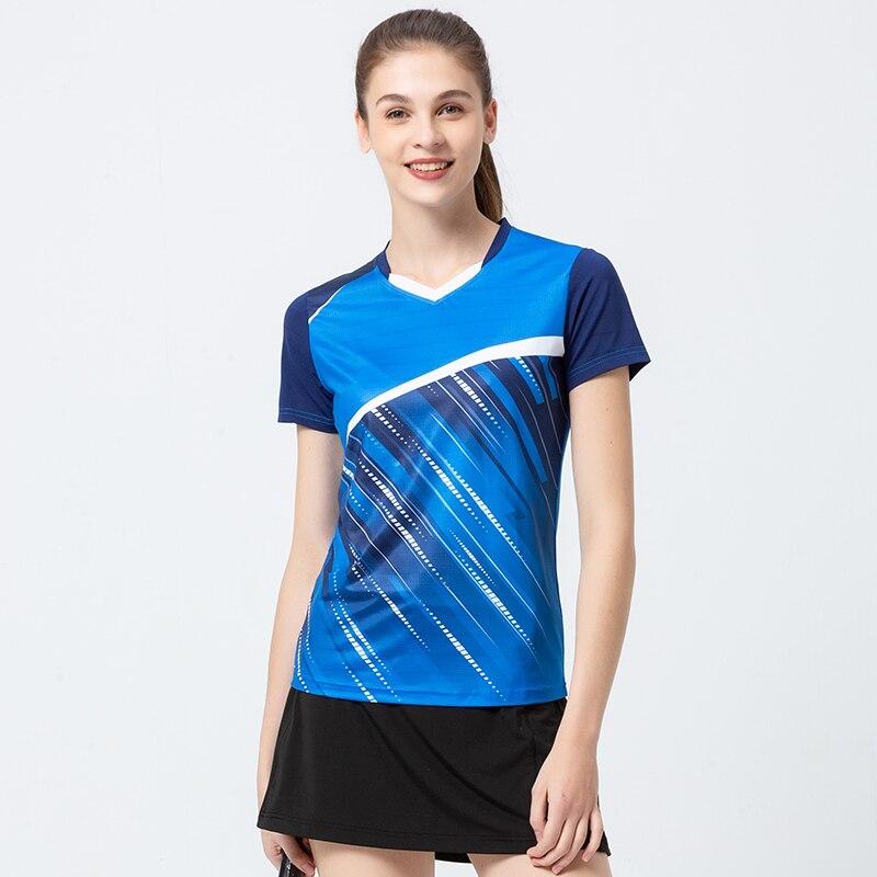 Tênis de Mesa Topos de Secagem Badminton Novo Esporte Rápida Suor-absorvente Respirável Tênis Roupas Manga Curta Tamanho Grande 2020
