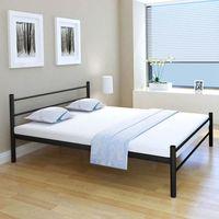 vidaXL Bed Frame Black Metal 160x200 cm
