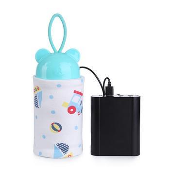 Przenośny podgrzewacz wody do mleka USB butelka do pielęgnacji niemowląt podgrzewacz noworodka wózek podróżny torba dla niemowląt mleko na zewnątrz izolowana torba tanie i dobre opinie MOJOYCE CN (pochodzenie) Cotton Portable STANDARD W stylu rysunkowym Other