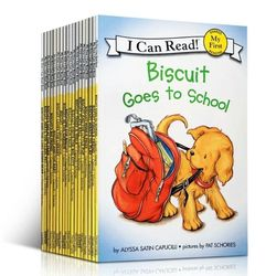 22 Books/set Biscuit Series English Picture Books I Can Read Children Story Book Early Educaction Reading Book for Kids