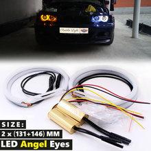 Автомобильный Стайлинг двойной цвет белый желтый 2 x(131 мм