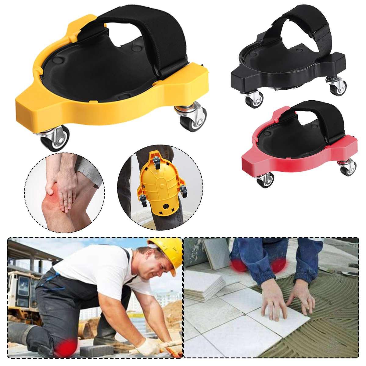 Plastic Knee Pad Rolling Wheels Adjustable Strap Knee Pad Rolling Wheels Protecting Knee Sports Knee Protection Pad Flexible