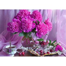 5D DIY diamond painting Flower Arrangement Vase Cross Stitch Diamond Embroidery Mosaic Home Crafts