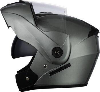 2 Gifts Unisex Racing Motorcycle Helmets Modular Dual Lens Motocross Helmet Full Face Safe Helmet Flip Up Cascos Para Moto kask 27