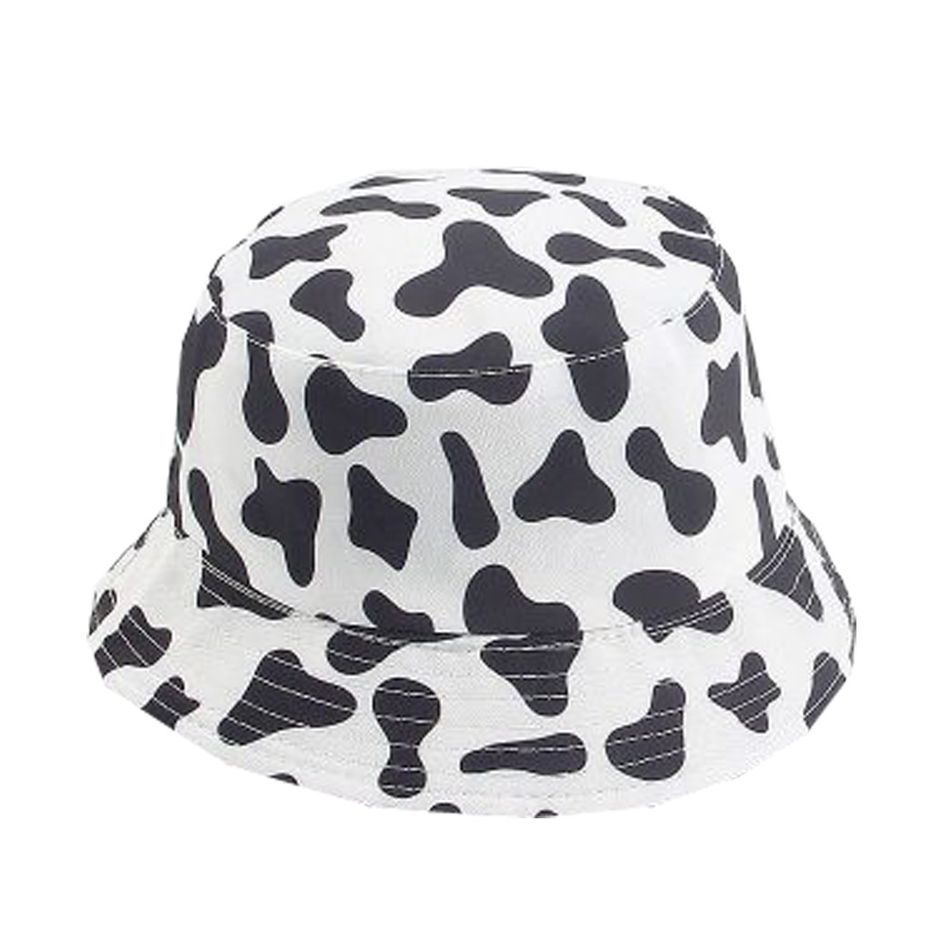 Black White Paisley Blank Pattern Design Sun Bucket One Size Hat Crusher Beach