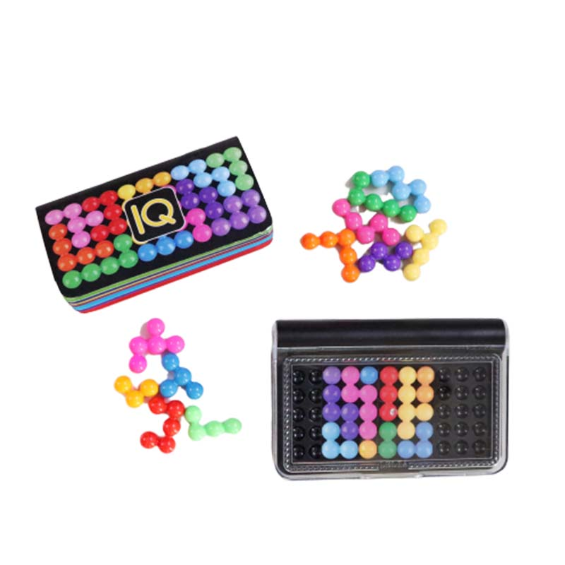 IQ Puzzle Classic Pyramid Plate 120 Challenges IQ Pearl Logical Mind Game Brain Teaser Beads for Children Educational Game Toys