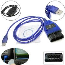 Czarny/niebieski VAG COM 409.1 Vag Com 409Com Vag 409.1 Kkl OBD2 USB kabel diagnostyczny interfejs skanera dla VW Audi Seat Volkswagen