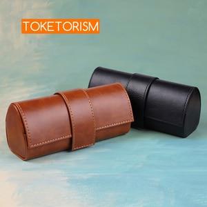 Image 1 - Toketorism Vintage Handgemaakte Glazen Doos Zonnebrillen Tassen Stijlvolle Kunstmatige Lederen Dozen