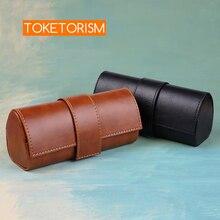 Toketorism caja de gafas vintage hecha a mano, bolsos de gafas de sol, elegantes cajas de cuero artificial