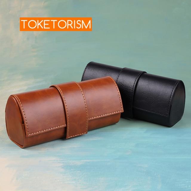 Toketorism vintage handmade glasses box sunglasses bags stylish artificial leather boxes