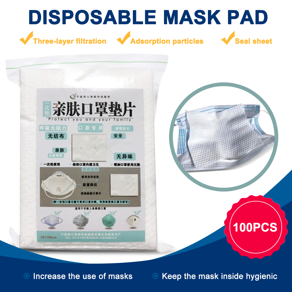 100PCs Cotton Mask Filter Pad Disposable Protective Mask Gaskets Replacements Suitable For All Face Masks Filters Respirator