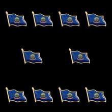 10PCS American State of Idaho Country Flag Lapel Pin Waving Made of Metal Souvenir Hat Unisex Patriotic Accessories croatia country flag lapel pin made of metal souvenir hat men women waving epoxy flag lapel pin