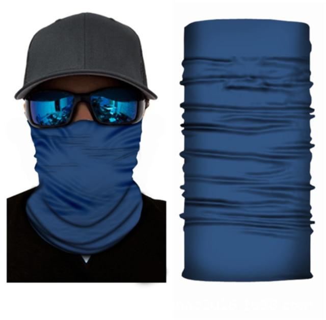 Face Mask Solid Color Face Balaclava Scarf Neck Tube Fishing Shield Sun Gaiter UV Headwear 3
