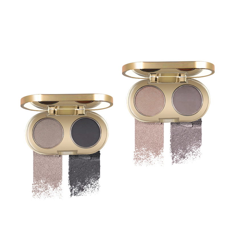 D.S.M Professional Eyebrow Powder 2 Colors Waterproof Eyebrow Non-smudge Eye Brow Makeup Eyeshadow Palette Cosmetics Makeup Kit 1