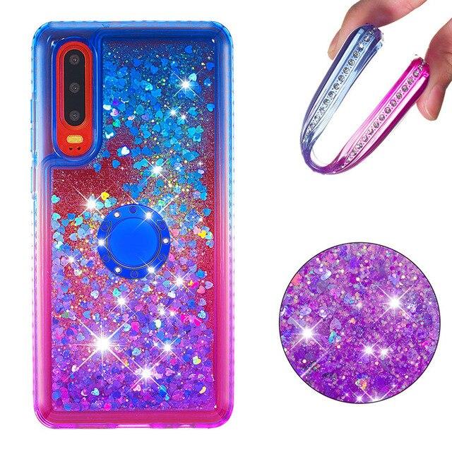 Gevallen voor Huawei Honor 10i P30 P30 Lite Pro Y6 Y7 Pro Prime Genieten 9 9s P Smart Cover TPU Liquid Quicksand Diamond Giltter Coque