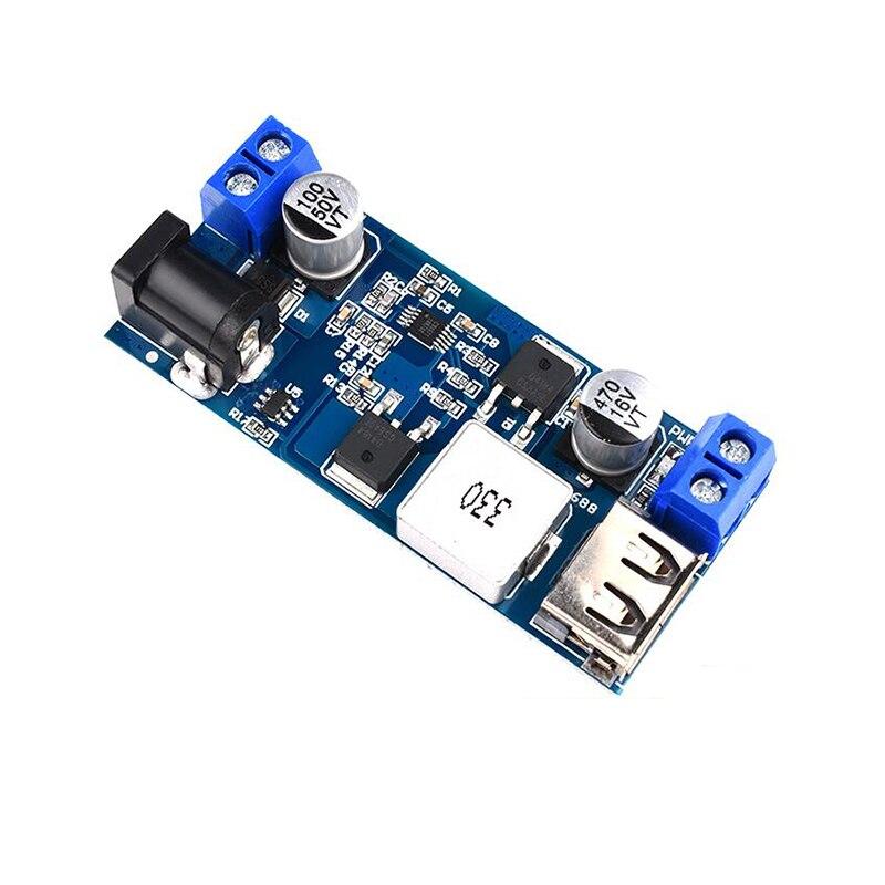 DC-DC 24 В/12 В до 5 В пост 5A Шаг вниз Питание понижающий преобразователь заменить LM2596S Регулируемый USB понижающий модуль зарядки для мобильного т...