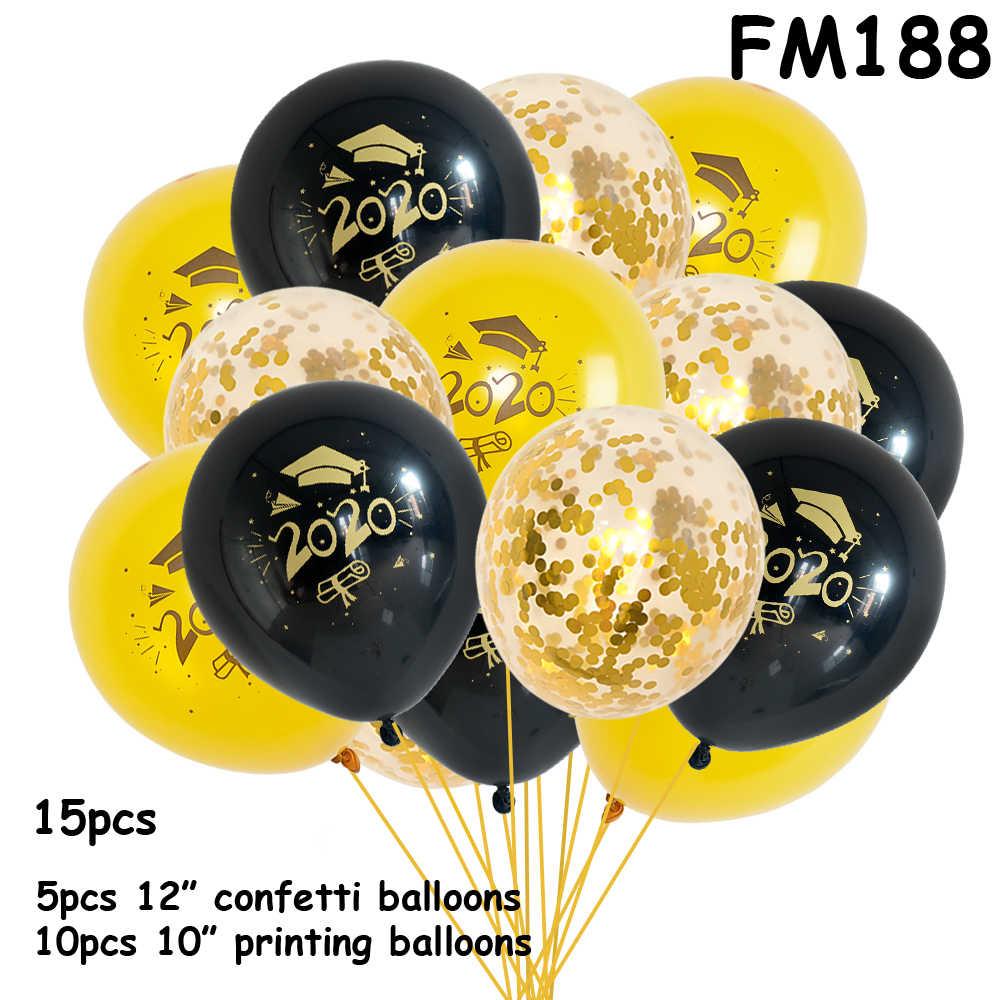 Graduierung Luftballons 2019 2020 Konfetti Ballons Gedruckt Glückwunsch Graduation Geschenk Hohe Schule Party Dekorationen Luftballons Set