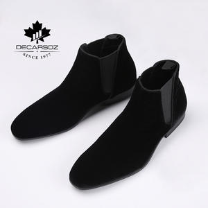 Men Shoes Chelsea-Boots Male Fashion Design Comfy Chaussures Homme Elastic Luxury New-Brand