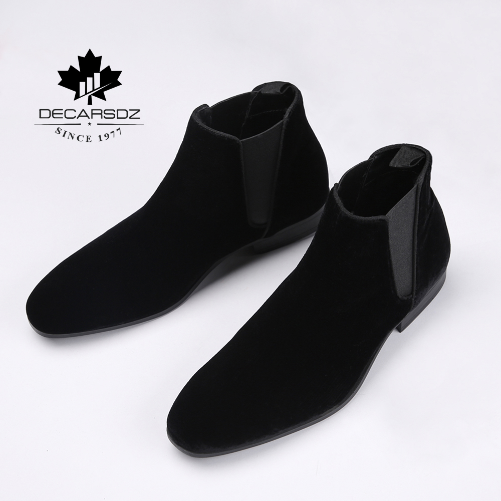 2019 Chelsea Boots Men Ankle Boot For Men Fashion Brand Design Autumn Black Suede Basic Boots Shoes Men Casual Botas Men's Boots