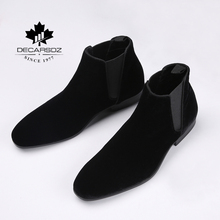 Buy 2019 Chelsea Boots Men Ankle Boot For Men Fashion Brand design Autumn Black Suede Basic Boots Shoes Men casual Botas Men's Boots directly from merchant!