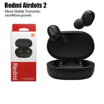New Original Xiaomi Redmi AirDots 2 Wireless Earphone Bluetooth 5.0 Headset Mi Ture Wireless Headphones Earbuds In-Ear Earphones 6