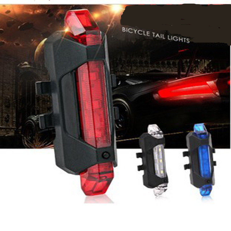 Bike Bicycle Light LED Taillight Rear Tail Safety Warning Cycling Portable Light, USB Style Rechargeable Or Battery Style