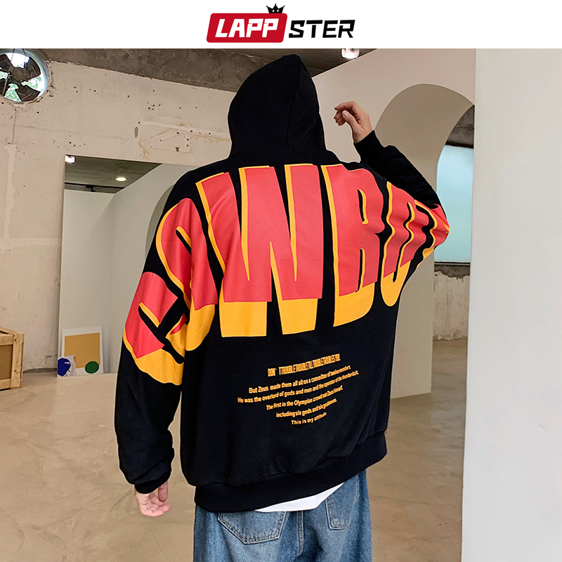 Image 2 - LAPPSTER Men Japanese Streetwear Hip Hop Hoodies 2020 Autumn 
