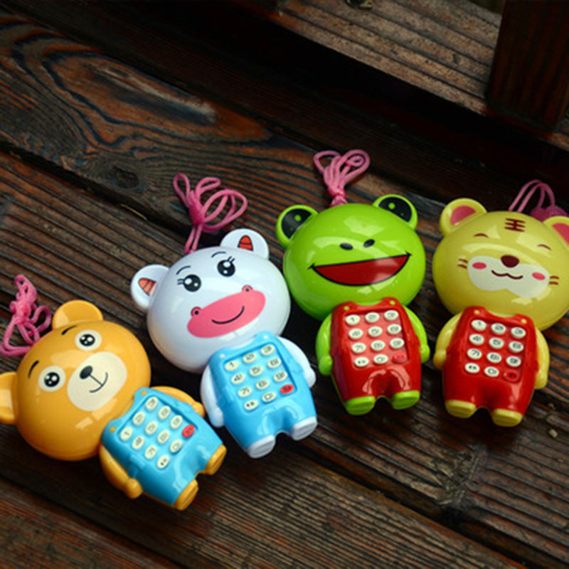 Boy Girl Baby Toys Educational Toy Cartoon Music Lights Up Mobile Phone Shape Baby Gifts 0-36 Months
