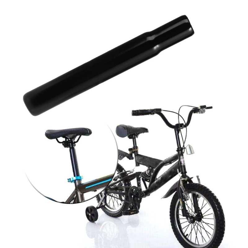 Mountain Bike MTB BMX Aluminum Alloy Seat Post Tube Seatpost Black Silver 25.4mm