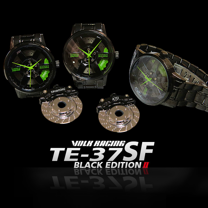 New TE-37SF Men Rim Hub Watch Metal Custom Design Car Wrist Watch Stainless Steel Custom Not Printing Wheel Rim Hub Watches Man