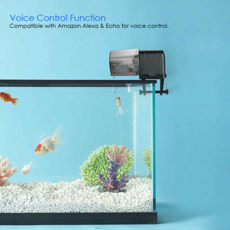 Alimentador automático de peces con WIFI, alimentador portátil de peces, herramientas alimentador con temporizador, dispensador automático de alimento para peces