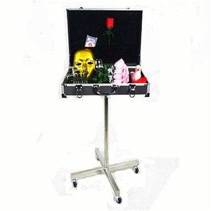 Волшебный столик в черной алюминиевой коробке (стенты из нержавеющей стали роликового типа), волшебные фокусы, аксессуары для сцены волшебн...