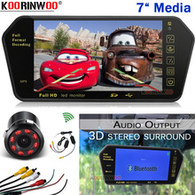 Koorinwoo CCD Parking Video System Car Monitor Mirror USB Bluetooth Calling MP5 FM rearview camera Audio Speaker Car Accessories