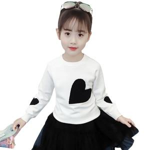 Image 1 - 소녀를위한 새로운 여자 스웨터 인쇄 스웨터 봄 아이 옷 십대 소녀 상위 10 대 소녀를위한 어린이 의상 6 8 12 년