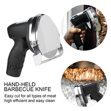 Electric Kebab Slicer Doner Knife Shawarma Cutter Handheld Roast Meat Cutting Machine Gyro Knife Two Blades Poultry Tools