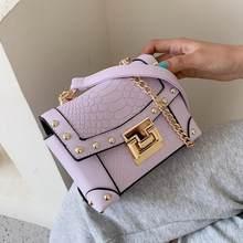 Sac à bandoulière carré motif Crocodile pour femmes, sac à main de styliste en cuir de bonne qualité, nouvelle collection 2020