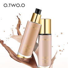 O.TWO.O Liquid Foundation ที่มองไม่เห็น Full Coverage คอนซีลเลอร์ Whitening Moisturizer กันน้ำแต่งหน้า Foundation 30 ml