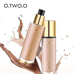 Image 1 - O.TWO.O Liquid Foundation Invisible Full Coverage Make Up Concealer Whitening Moisturizer Waterproof Makeup Foundation 30ml