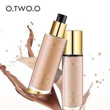 O.TWO.O base líquida Invisible cobertura completa maquillaje corrector blanqueador hidratante impermeable maquillaje base 30 ml
