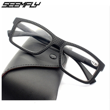 Seemfly Reading Glasses Frame Men Women Ultralight Retro Business Hyperopia Prescription Eyeglasses Unisex Eyewear +1.0 To +3.5