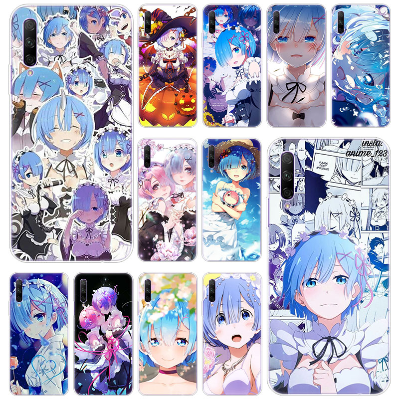 Anime Re NULL Ram Rem In Eine Andere Welt Silikon Fall für Huawei Ehre 20 20i 10i 10 <font><b>9</b></font> 8 Lite 9X 8X 8A 8S 7S 7A Pro Ansicht 20 Play3 image
