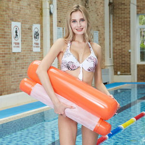 120X75 cm cama flotante marco alta calidad inflable cama piscina flotante piscina juguetes flota cama flotante marco