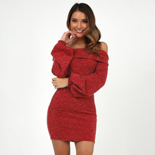Girl Dress Clubwear Long-Sleeve Sexy Party Evening Fashion 4-Colors Slim-Fit Minboutique