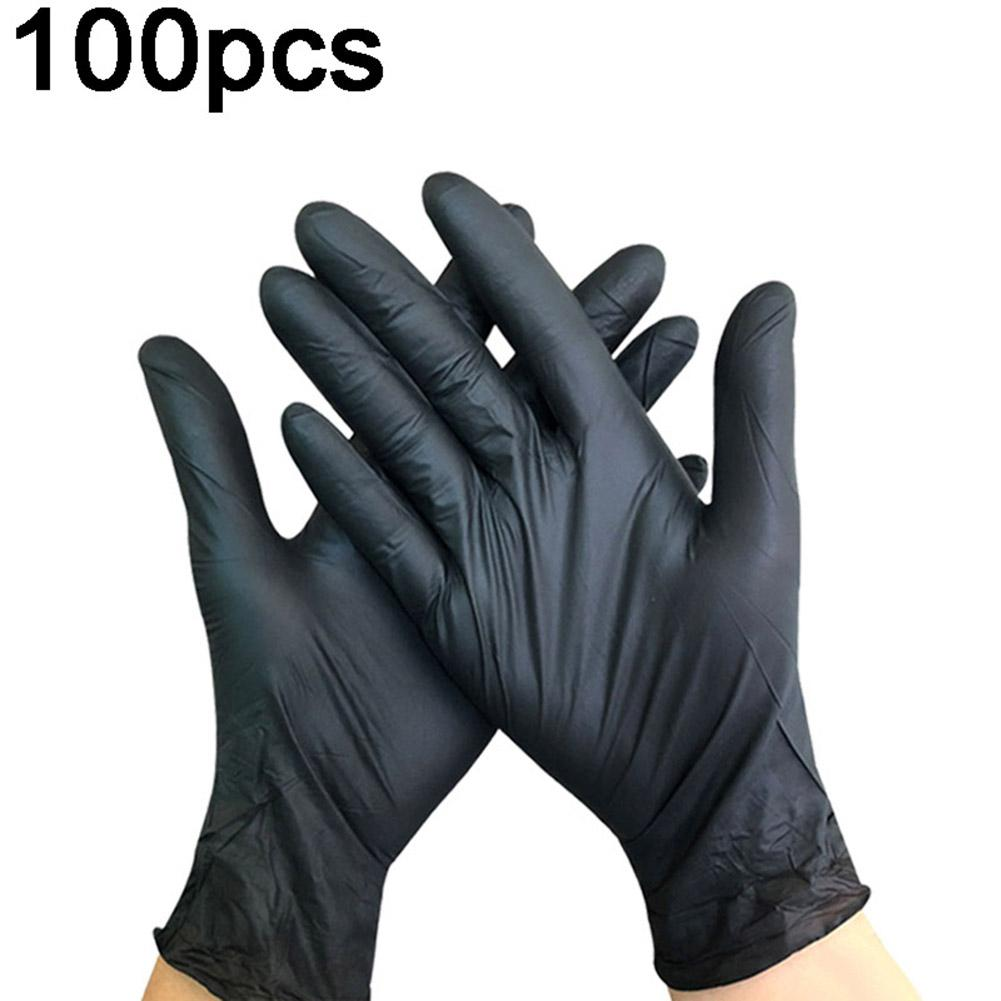100Pcs Medical-Disposable Elastic Nitrile Rubber Tattoo Clean Protective Gloves Hygiene Mask Dropshipping Instock Fast Shipment