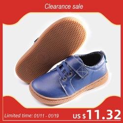 جلد طبيعي الاطفال أحذية الخريف الأطفال الفتيان أحذية غير رسمية الفتيات أحذية من الجلد الفتيان أحذية رياضية القهوة البني حجم 25-30