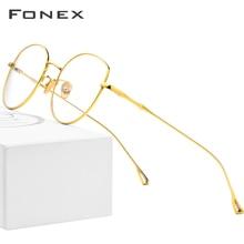 Fonex Pure B Titanium Brilmontuur Vrouwen Ultralight Recept Brillen Mannen Cat Eye Bril Bijziendheid Optische Frame 868