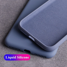 Liquid Silicone Case For iPhone 11 Pro Max Case Luxury Protective Cover For iPhone 7 8 6S 6 Plus Cases for iphone XR XS Max X