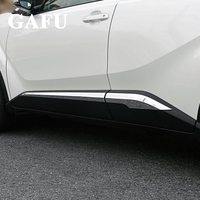 For toyota chr 2019 Accessories ABS chrome Car Body Scuff Strip Side Door Molding Streamer Cover Trim 4pcs 2017 2018 2020
